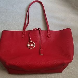 BCBG RED large tote